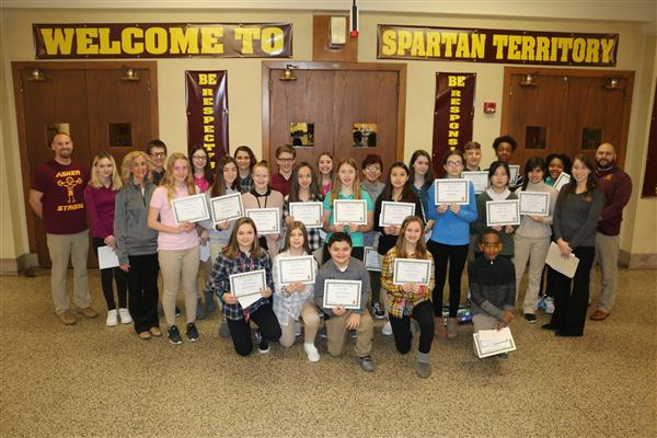 Wyoming Valley West Middle School, Kingston, has announced the 7th and 8th Grade January Students of the Month