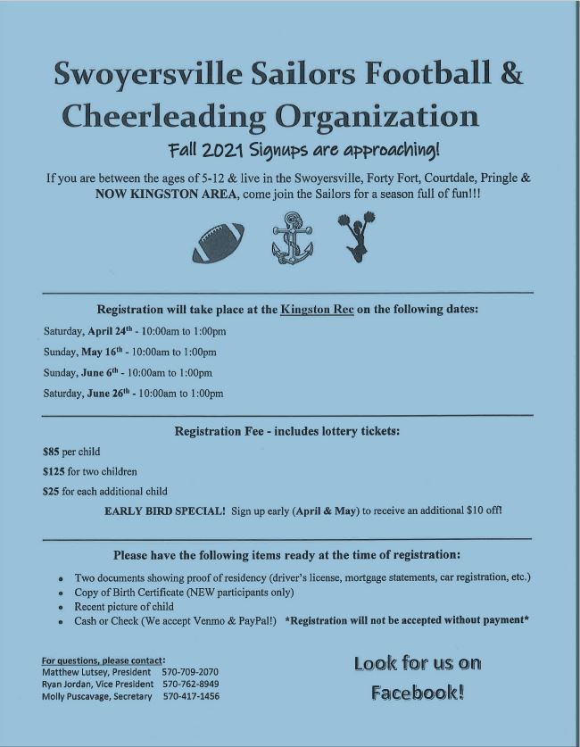 Swoyersville Sailors Football & Cheerleading Organization